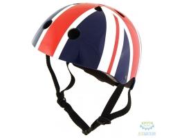 Шлем детский Kiddimoto британский флаг, размер S 48-53см