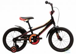 Велосипед 16 Pride Tiger Чёрный/красный/жёлтый Лак 2018