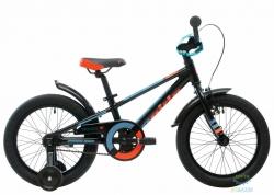 Велосипед 16&quot Pride Rowdy Черный/голубой/оранжевый Лак 2017