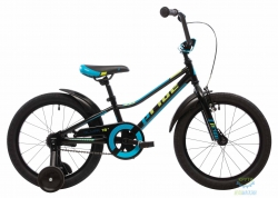 Велосипед 18&quot Pride Oliver Чёрный/голубой/лайм Лак 2017