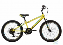 Велосипед 20&quot Pride Jack 6 Лайм/голубой/чёрный Лак 2017