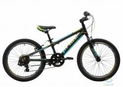 Велосипед 20 Pride Johnny  Чёрный/голубой/салатовый Мат 2018