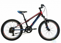 Велосипед 20 Pride Johnny Race Чёрный/красный/синий Лак 2018
