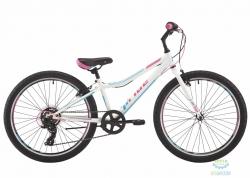 Велосипед 24 Pride Lanny 7 Белый/бирюзовый/малиновый Лак 2017
