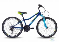 Велосипед 24&quot Pride Brave 21 Синий/голубой/лайм Мат 2017