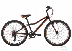 Велосипед 24 Pride Brave 7 Чёрный/оранжевый/красный Лак 2017
