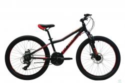 Велосипед 24 Pride Pilot 21 Чёрный/красный/оранжевый Мат 2018