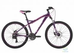 Велосипед 26&quot Pride Stella 3.0 рама - 16 тёмно-фиолетовый/розовый/серый 2017