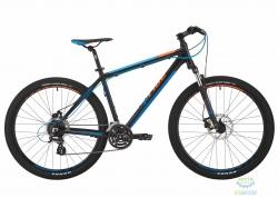 Велосипед 27,5 Pride Rebel 7.2 рама - 21 черный/голубой/оранжевый 2017
