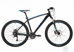 Велосипед 27,5&quot Pride Rebel 7.3 рама - 19 черный/голубой/красный 2017