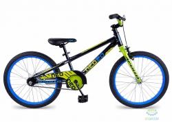 Велосипед 20 Apollo Neo boys 2017 Gloss Charkoal/Gloss Lime/Gloss Blue
