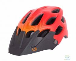 Шлем Green Cycle Slash размер 54-58см красный-оранж-черный матовый