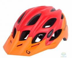 Шлем Green Cycle Enduro размер 54-58см оранжево-красный матовый