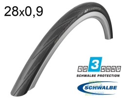 Покрышка 28x0.9 (23x622) Schwalbe LUGANO K-Guard Folding HS471 B/B-SK SiC IB