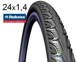 Покрышка 24 x 1 3/8 (37x540) MITAS (RUBENA) HOOK V69 Classic черная для колясок