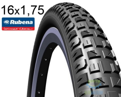 Покрышка 16x1.75*2 (47x305) MITAS (RUBENA) X-CALIBER V92 Classic черная