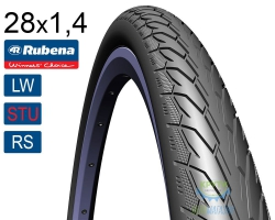 Покрышка 700 x35C RUBENA Flash V66 (37-622) Classic (LW)(STU)(RS) черная