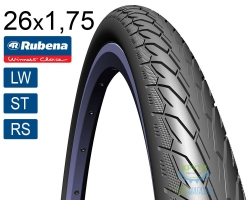 Покрышка 26 x 1.75*2 (47x559) RUBENA Flash V66 Classic (LW)(ST)(RS) черная