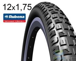 Покрышка 12 x 1/2х1,75х2 1/4 (47x203) RUBENA X-CALIBER V92 Pre Classic черная