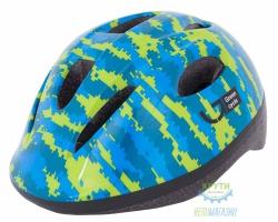Шлем детский Green Cycle Pixel размер 50-54см синий\голубой\лайм лак