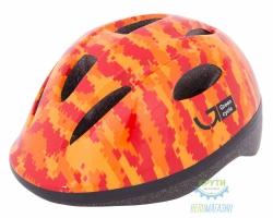 Шлем детский Green Cycle Pixel размер 50-54см оранжевый/красный лак