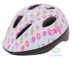 Шлем детский Green Cycle Sweet размер 50-54см белый/розовый лак