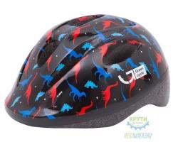Шлем детский Green Cycle Dino размер 50-54см черный/красный/синий лак