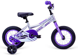 Велосипед 12 Apollo Neo Girls Brushed Alloy / Purple / White 2018
