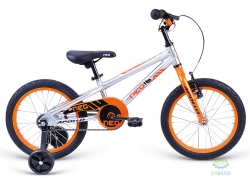 Велосипед 16 Apollo Neo boys Brushed Alloy / Orange / Black 2018