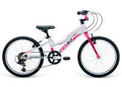 Велосипед 20 Apollo Neo 6s girls Brushed Alloy / Chrome Pink / Black 2018