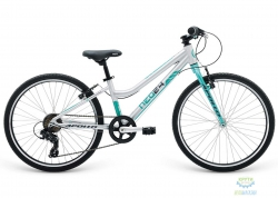 Велосипед 24 Apollo Neo 7s girls Brushed Alloy / Turquoise / Charcoal 2018
