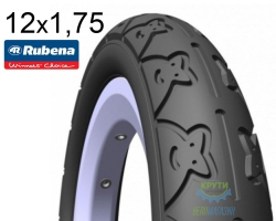 Покрышка 12 x 1/2х1,75х2 1/4 (47x203) MITAS (RUBENA) TEDDY  V62 Pre Classic черн.