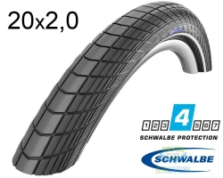 Покрышка 20x2.00 (50-406) Schwalbe BIG APPLE HS430 R-Guard B/B-SK+RT EC, 67EPI