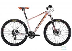 Велосипед Cyclone 27,5 LLX-650b  рама - 15,5 бело-оранжевый мат 2018