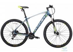 Велосипед 29 Winner Gladiator Рама - 22 Серо-Зеленый-Мат 2018