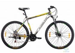 Велосипед 29 Kinetic Unic-Steel Рама - 19 Серо-Желтый 2016