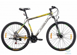 Велосипед 29 Kinetic Unic-Steel Рама - 21 Серо-Желтый 2016