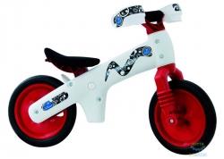 Беговел 12 Bellelli B-Bip обучающий 2-5лет, пластмассовый, белый с красными колёсами