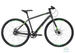Велосипед 28 Apollo TRACE 45 рама - M matte charcoal/matte black/matte neon green ременная передача