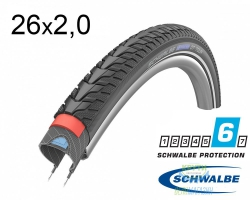 Покрышка 26x2.00 (50-559) Schwalbe MARATHON GT Tour DualGuard Performance B/B+RT HS485 EC, 67EPI 34B