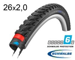 Покрышка 26x2.00 (50-559) Schwalbe MARATHON GT 365 DualGuard B/B+RT HS475 FS, 67EPI 34B