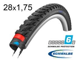Покрышка 28x1.75 (47-622) Schwalbe MARATHON GT 365 DualGuard Performance B/B+RT HS475 FS 67EPI 33B