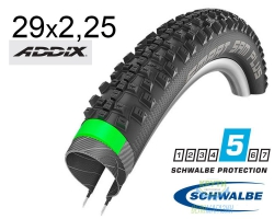 Покрышка 29x2.25 (57-622) Schwalbe SMART SAM PLUS GreenGuard,SnakeSkin Performance B/B-SK HS476 Addix 67EPI 35B