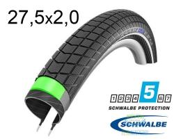 Покрышка 27.5x2.00 650B (50-584) Schwalbe BIG BEN PLUS GreenGuard,SnakeSkin Performance B/B-SK+RT HS439 EC 67EPI 37B