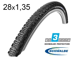 Покрышка 28x1.35 (35-622) 700x35C Schwalbe CX COMP K-Guard Active B/B-SK HS369 SBC 50EPI