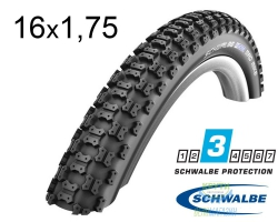 Покрышка 16x1.75 (47-305) Schwalbe MAD MIKE K-Guard B/B HS137 SBC, 50EPI
