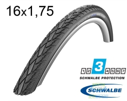 Покрышка 16x1.75 (47-305) Schwalbe ROAD CRUISER K-Guard B/B+RT HS377 SBC, 50EPI