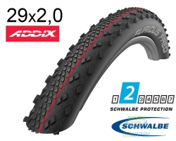 Покрышка 29x2.00 (50-622) Schwalbe FURIOUS FRED Evo, LiteSkin, Evolutoin Folding B/B-SK HS395 Addix Speed 127EPI EK