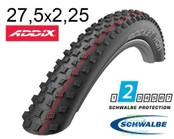 Покрышка 27.5x2.25 650B (57-584) Schwalbe ROCKET RON Evo LiteSkin Evolutoin Folding B/B-SK HS438 Addix Speed 127EPI EK