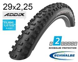Покрышка 29x2.25 (57-622) Schwalbe NOBBY NIC Performance,TL-Ready, Folding B/B HS463 Addix 67EPI EK